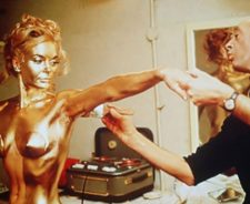 Goldfinger Girl Painted Gold