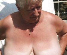 Granny grandma beach nude