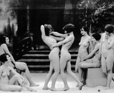 Group Of Lustful Babes Playing Around Naked
