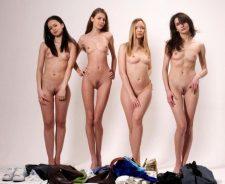 Group Teen Girls Undressing