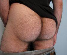 Hairy Man Ass Bubble Butt