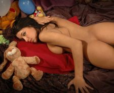 Happy Birthday Brunette Nude