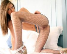 Heels Bed Blonde Girl Little Caprice Pussy Pantyhose