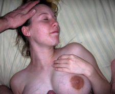Homemade Amateur Cum On Tits