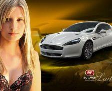 Hot Blonde With Aston Martin