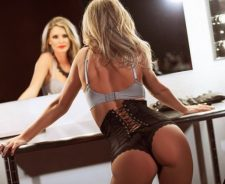 Hot Kimber Cox Playboy Girl Model Sexy Sensual Ass Underwear Mirror