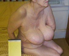 Huge Heavy Boobs Granny