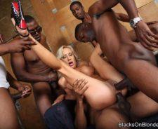 Interracial Blacks On Blondes Gangbang