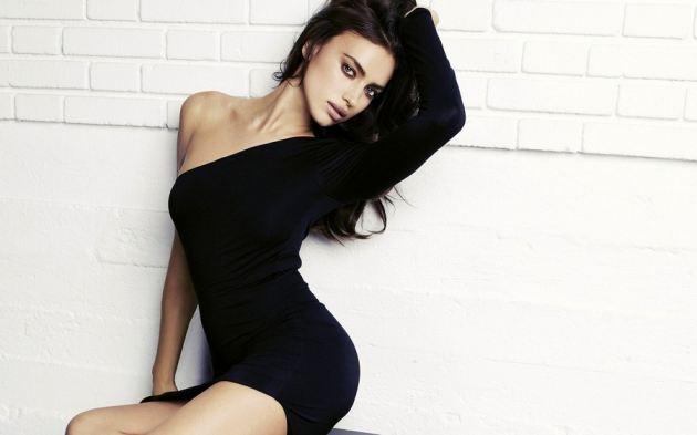 Irina Shayk Sexy Black Dress