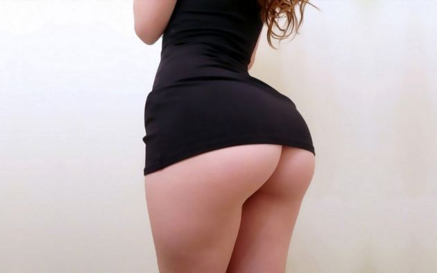 Just Perfect Curved Ass Girl Short Dress Legs