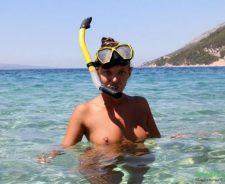 Katya Nude Snorkeling