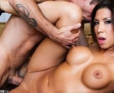 Kayla Carrera Takes A Hard Dick On The Couch And Shows Tits