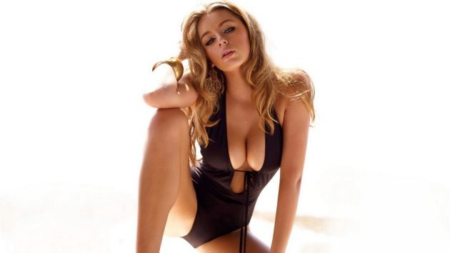 Keely Hazel In Black Swimsuit