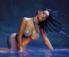 Kelly Brook Wet