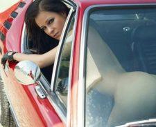 Khristina Uhrinova Naked In Car
