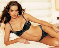 Kim Smith Black Bikini Laying