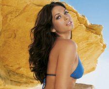 Kim Smith Blue Bikini Closeup