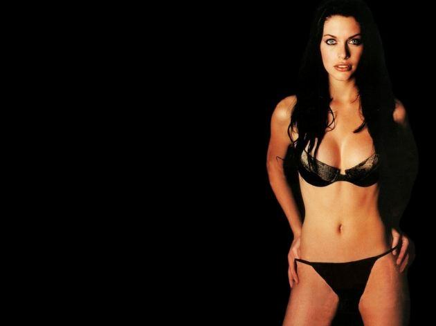 Kim Smith Hot Black Bikini