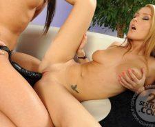 Kinky Horny Lesbian Dildo Porn
