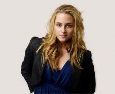 Kristen Stewart In Blue Dress