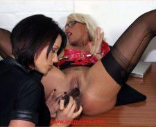 Leggy Lana Office Lesbian