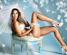 Lily Aldridge Sexy Bride