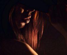 Lips Low Light Phto Redhead Girl