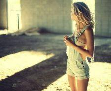 Lovely Blonde Girl Model Underwear