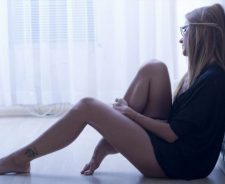 Lovely Blonde Girl Sexy Legs Tattoo Mood