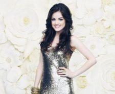 Lucy Hale Shiny Dress