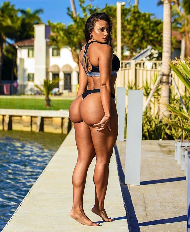 Maria Villalba getting tan