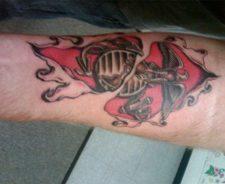 Marine Eagle Globe And Anchor Tattoo