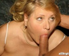 Mature Blonde Sucking Big Cock