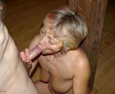 Mature Granny Loves Sucking My Cock
