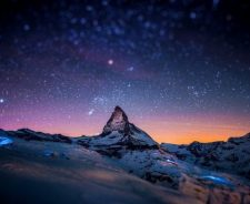Milky Way Night Sky Mountains