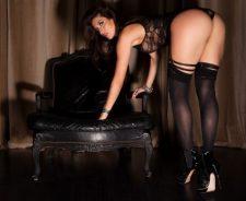 Miranda Nicole Girl Nice Ass Sexy Lingerie Stockings Heels Bending