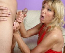 Mom And Girl Play With Dick