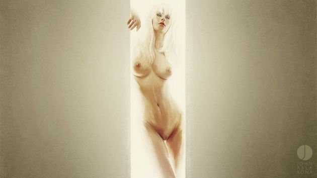 Naked Girl Blonde Sexy Bosy Boobs Pussy Artwork
