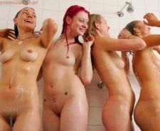 Naked Girls Taking Shower Together