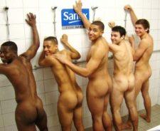 Naked Locker Room Men Football