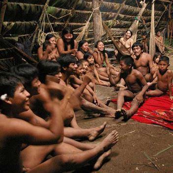 Naked indigenous tribe boys