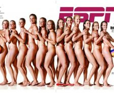Naked woman water polo team