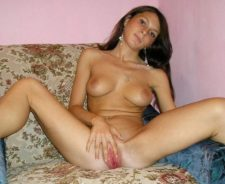 Nasty Young Nude Brunette Amateur Teen Spreads Pink Pussy