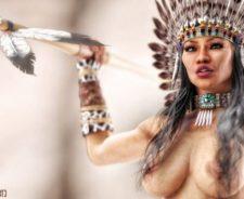 Native American Fantasy Women Warriors Nude