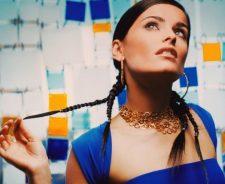 Nelly Furtado Cool Blue Dress