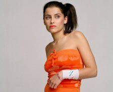 Nelly Furtado Orange Shirt