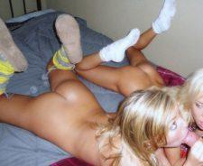 Nerdy Girls Nude Blowjob