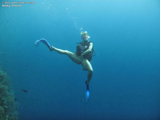 Nikky Thorne Nude Underwater Scuba Diving