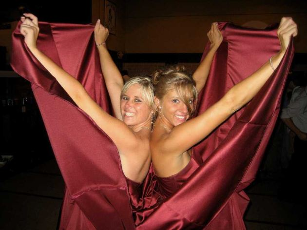 Nude Bride Bridesmaid Flashing
