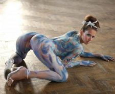 Nude Girls Body Paint Art